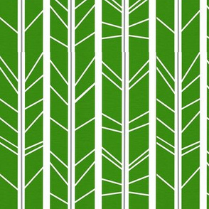 Kelly Green Tree Branch Herringbone