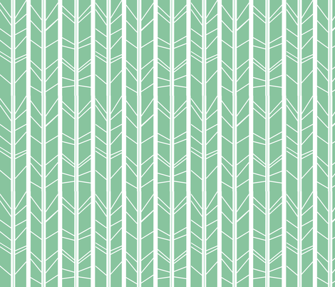 Mint tree branch herringbone fabric by modfox on Spoonflower - custom fabric