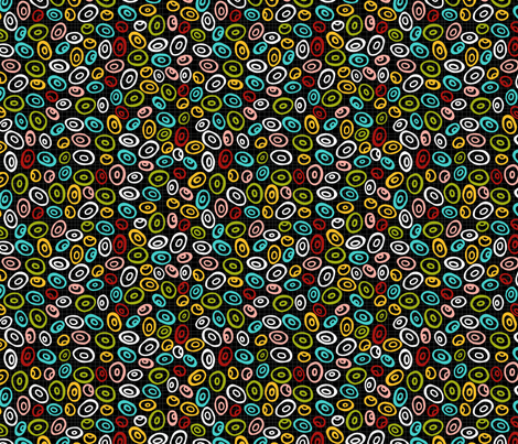Large Tribal Beads fabric by ktalent on Spoonflower - custom fabric
