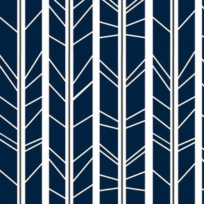 navy grey tree branch herringbone