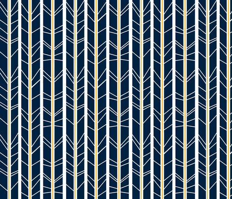 navy mustard tree branch herringbone fabric by modfox on Spoonflower - custom fabric