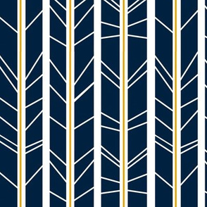 navy mustard tree branch herringbone