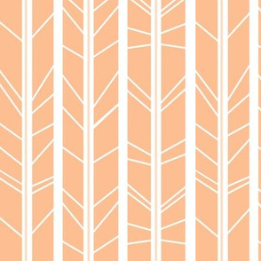 Peach tree branch herringbone