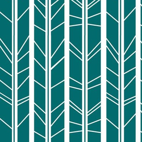 teal tree branch herringbone