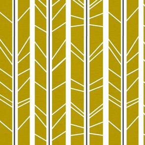 Dark Mustard tree branch herringbone