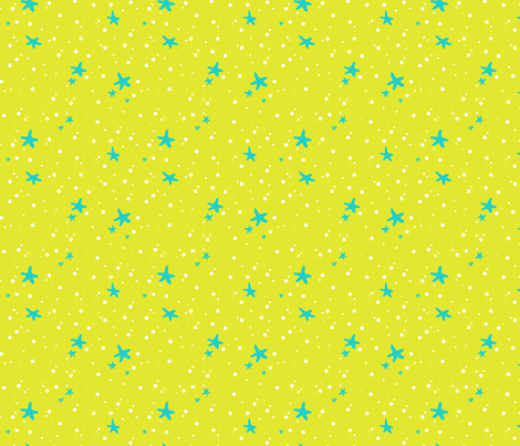 Bubbles and Starfish fabric by ktalent on Spoonflower - custom fabric