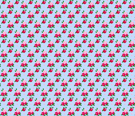 Pixel Roses fabric by thepixelpinup on Spoonflower - custom fabric