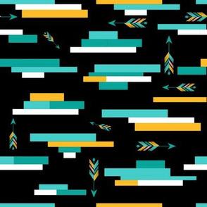 Tribal Arrows - Monochromatic on Black
