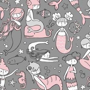 Watergirls (gray/pink) SMALL