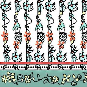Flourishing Vines Border Print2