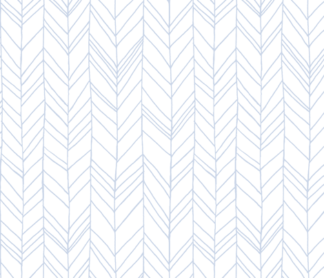 Featherland White/Blue (LARGE) fabric by leanne on Spoonflower - custom fabric