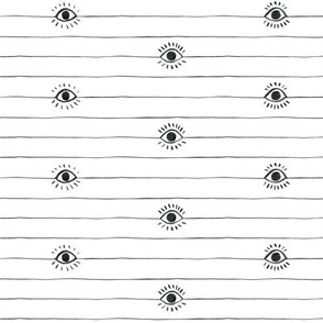 Eyeball Stripes with Full Lashes