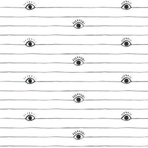 Striped Eyeballs with Half Lashes