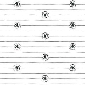 Striped Eyeballs with Full Lashes
