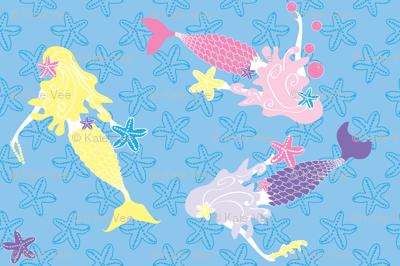 Mermaids Sea Star Gazing day