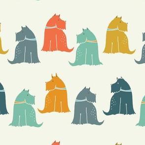 Colourful Scottie dogs