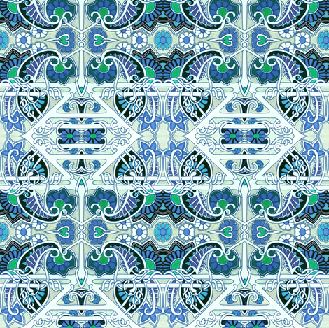 Twisted Blue Cheer fabric by edsel2084 on Spoonflower - custom fabric