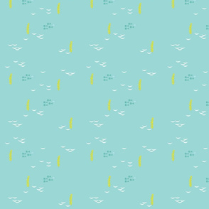 tiny_fishes in aqua (half size)