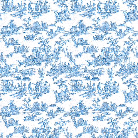 Tiny Toile fabric by amyvail on Spoonflower - custom fabric