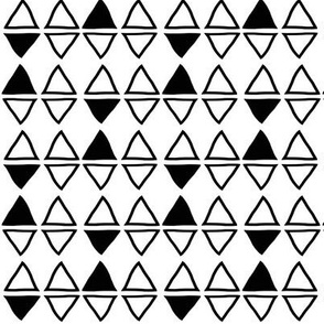 black and white triangles