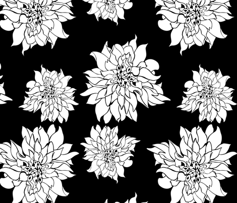 Villa Black fabric by arboreal on Spoonflower - custom fabric