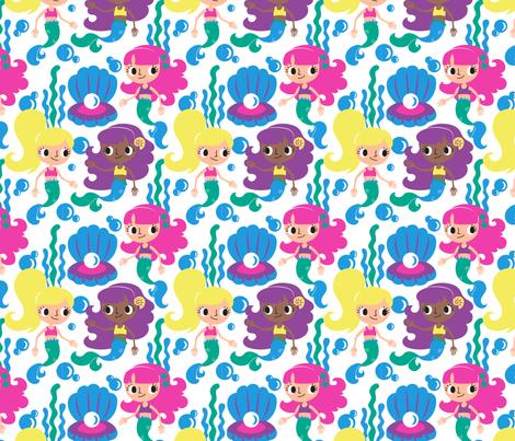 MerToons fabric by janekenstein on Spoonflower - custom fabric