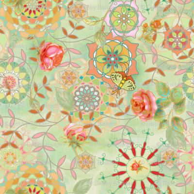 Floral fantasy - green