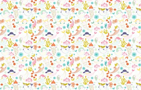Mermaids by Friztin fabric by friztin on Spoonflower - custom fabric