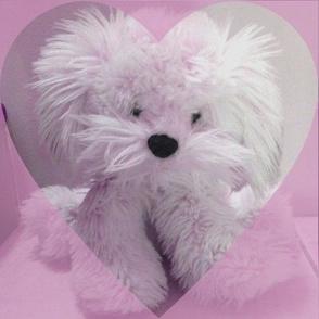 Pink pooch heart