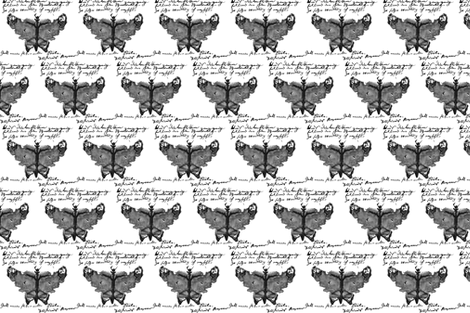 Butterfly Ink Blot Tattoo fabric by lizzy_beth on Spoonflower - custom fabric