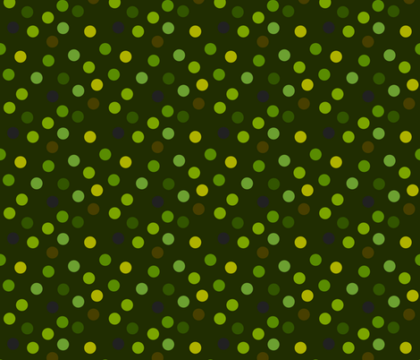 Forest polka dots fabric by greennote on Spoonflower - custom fabric