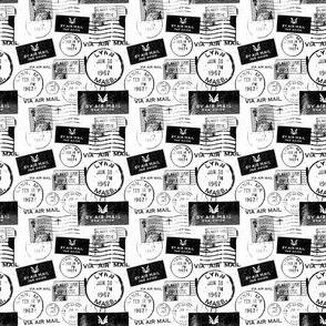 Via airmail