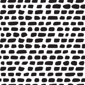 Black and white abstract stripes pebbles and strokes organic trendy gender neutral geometric grunge brush print