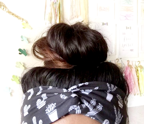 Black and white trendy summer cactus theme botanical garden gender neutral cacti and succulent garden illustration print