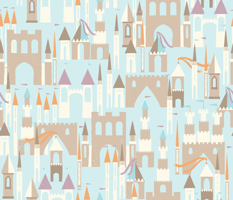 sandy dreams fabric by oliveandruby on Spoonflower - custom fabric
