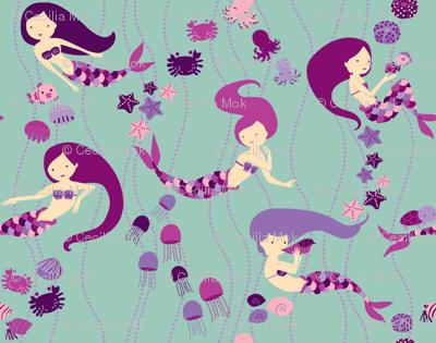 Mermaid Sisters - Purple