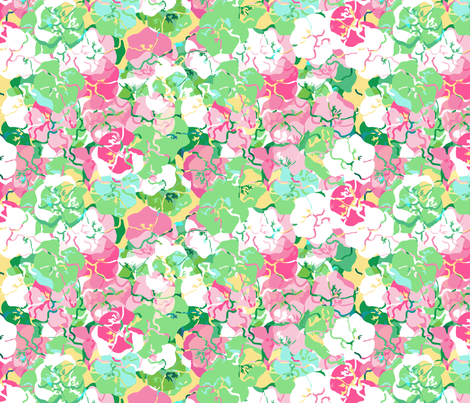 Pick A Pansy fabric by lulabelle on Spoonflower - custom fabric