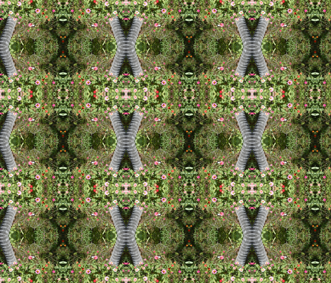 Garden Bridges and Floral Paths (Ref. 0350) fabric by rhondadesigns on Spoonflower - custom fabric