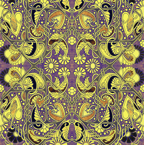 Cosmic Daisy Trip fabric by edsel2084 on Spoonflower - custom fabric