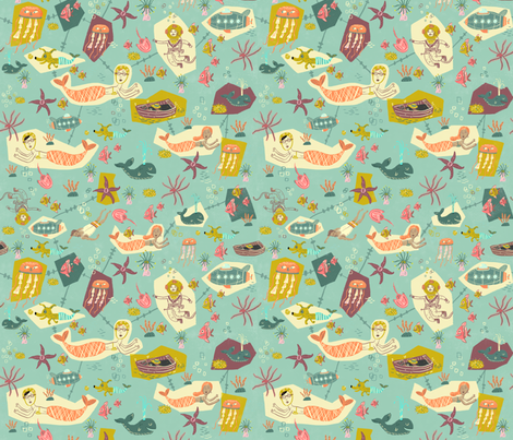 Seafarers fabric by skbird on Spoonflower - custom fabric