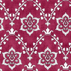 Medieval Deck Fabric Red