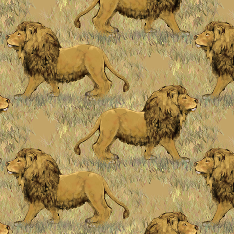 Nubian lion 2 fabric by eclectic_house on Spoonflower - custom fabric