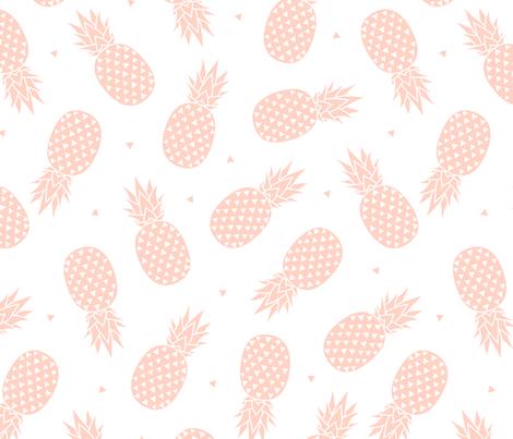 Pineapple - Blush fabric by kimsa on Spoonflower - custom fabric
