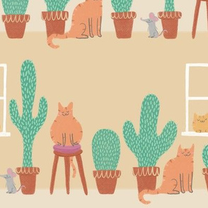 Cats Love Cacti - Large