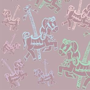 neon horses