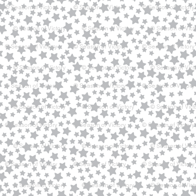 Mini Grey Stars on White