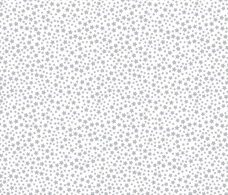 Mini Grey Stars on White fabric by seasonofvictory on Spoonflower - custom fabric
