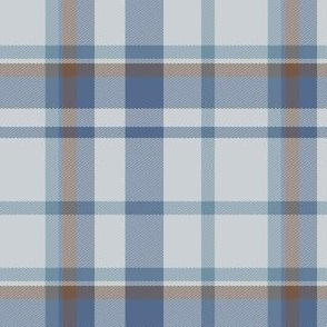 Pale Gray, Navy, and Brown Plaid