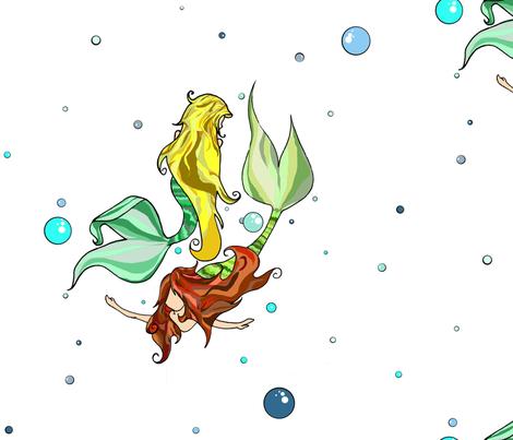 Mermaids fabric by carriemcg on Spoonflower - custom fabric