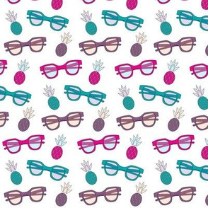 Sunnies and Pineapples (teal, purple, pink)